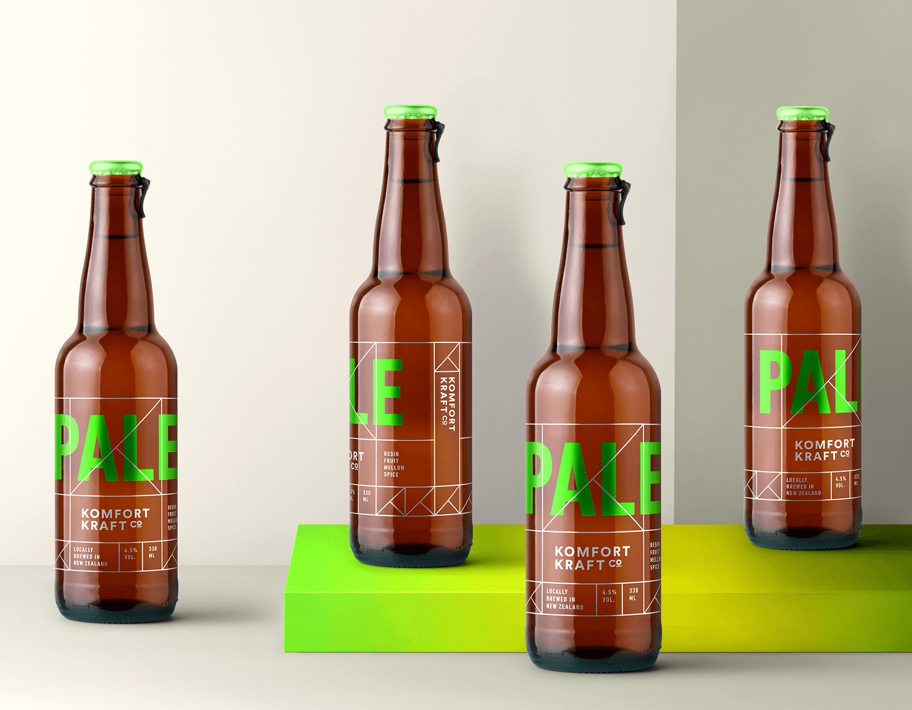 Komforting Kraft beer branding